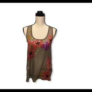 Candie's Floral Sequenced top